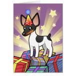 Rata Terrier del cumpleaños/fox terrier de juguete Tarjeta