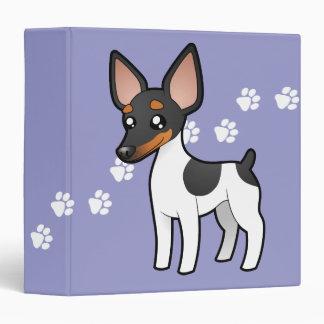 """Rata Terrier del dibujo animado/fox terrier de Carpeta 1 1/2"""""""