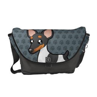 Rata Terrier del dibujo animado/fox terrier de jug Bolsas Messenger