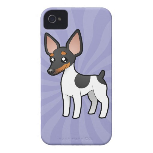 Rata Terrier del dibujo animado/fox terrier de jug Case-Mate iPhone 4 Fundas