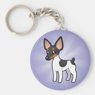 Rata Terrier del dibujo animado/fox terrier de jug Llaveros Personalizados