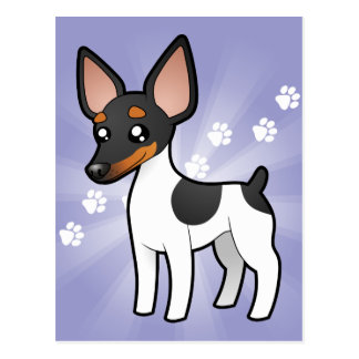 Rata Terrier del dibujo animado/fox terrier de jug Tarjeta Postal