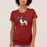 Rata Terrier del dibujo animado/fox terrier de Camiseta