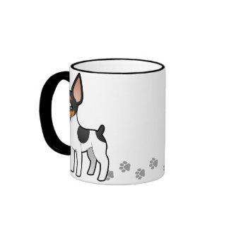 Rata Terrier del dibujo animado/fox terrier de Taza De Dos Colores