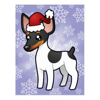 Rata Terrier del navidad/fox terrier de juguete Postal