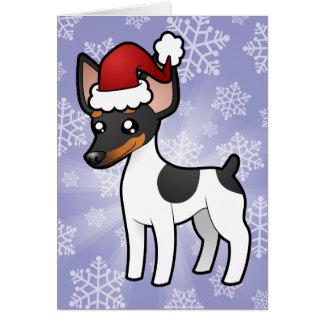 Rata Terrier del navidad/fox terrier de juguete Tarjeta De Felicitación
