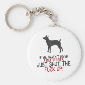 Rata Terrier Llavero Redondo Tipo Pin