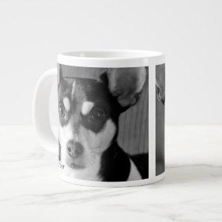 Rata Terrier, negro y blanco, Taza Grande