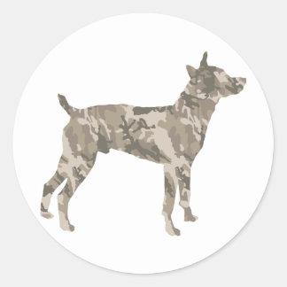 Rata Terrier Etiqueta Redonda