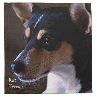 Rata Terrier Servilletas Imprimidas