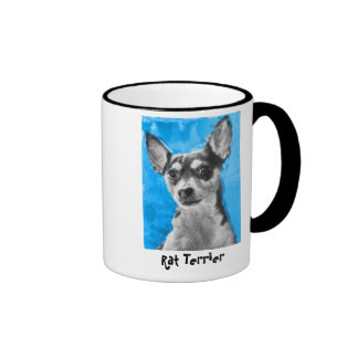 Rata Terrier, taza moderna del arte del perro