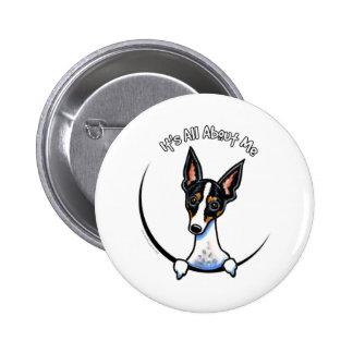 Rata Terrier tricolora IAAM Pin Redondo 5 Cm