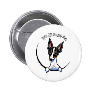 Rata Terrier tricolora IAAM Pin Redondo De 2 Pulgadas