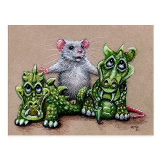 Rata y postal de los dragones