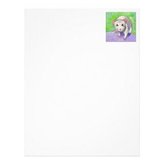 Ratas coloridas del blanco del arte del mascota de membrete personalizado