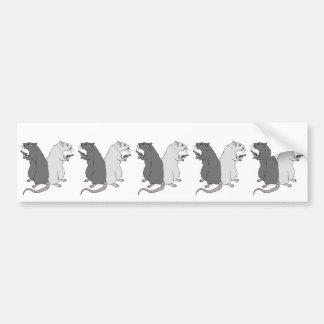 Ratas con el AGCS Pegatina De Parachoque