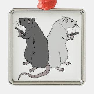 Ratas con el AGCS Ornaments Para Arbol De Navidad