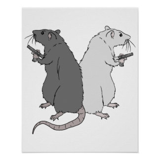 Ratas con el AGCS Póster