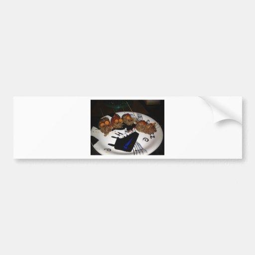 Ratas de la hamburguesa etiqueta de parachoque