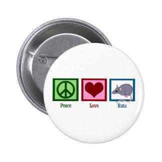 Ratas del amor de la paz pin