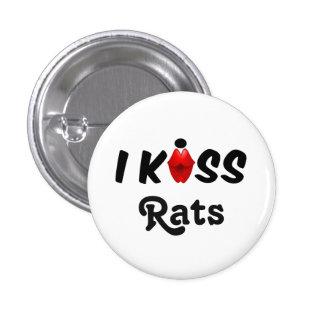 Ratas del beso del botón I Pin Redondo De 1 Pulgada