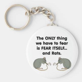 Ratas del miedo sí mismo llavero redondo tipo pin