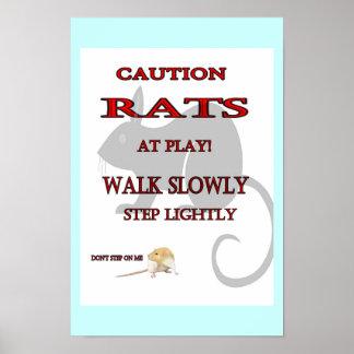 Ratas en el poster del juego póster