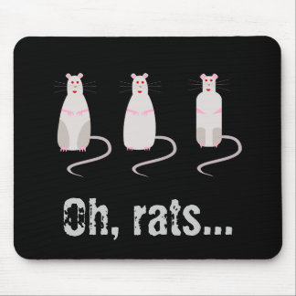 Ratas Rojo-Observadas Mousepad 2 Tapete De Ratón