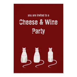 Ratas Rojo-Observadas queso y invitación del