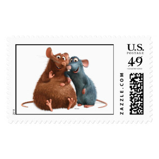 Ratatouille - Emile and Remy Disney Postage Stamp