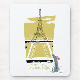 """Ratatouille """"La Tour Eiffel"""" Eiffel Tower vitage Mouse Pad"""