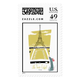 "Ratatouille ""La Tour Eiffel"" Eiffel Tower vitage Postage Stamp"