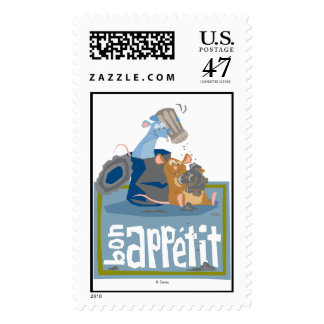 Ratatouille Mouse and Rat Disney Postage Stamp