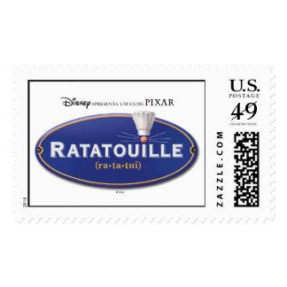 Ratatouille Movie logo Design Disney Postage Stamp