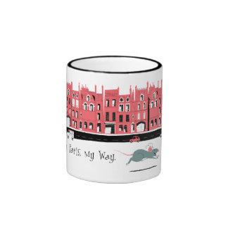 Ratatouille Paris Street Sceen Disney Ringer Coffee Mug