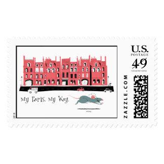 Ratatouille Paris Street Sceen Disney Postage Stamps