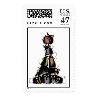 Ratatouille rat pyramid Disney Postage