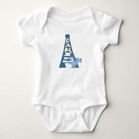 Ratatouille Remy by Eiffel Tower Disney Baby Bodysuit