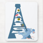 Ratatouille Remy by Eiffel Tower Disney Mouse Pad