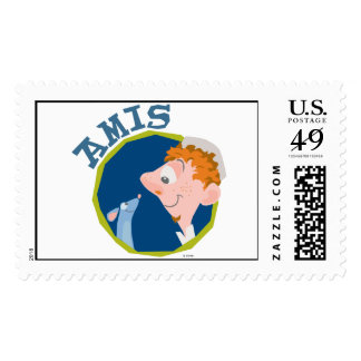 Ratatouille Remy Linguini Amis Friend logo Disney Postage