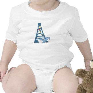 Ratatouille Remy por la torre Eiffel Disney Traje De Bebé