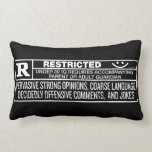 Rate R Throws Pillow