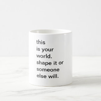 Rate with a great message! coffee mug
