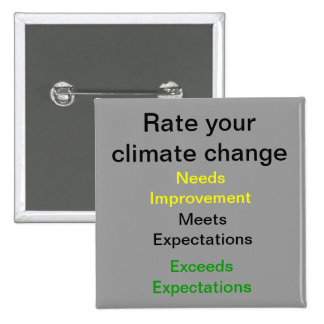 Rate your Climate Change Pinback Buttons