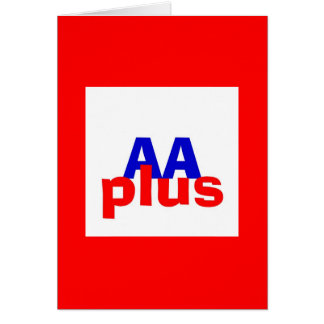 Rated AA plus Card