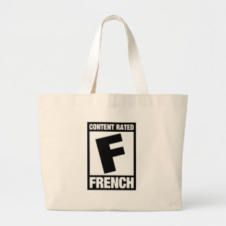 Rated F: French Large Tote Bag