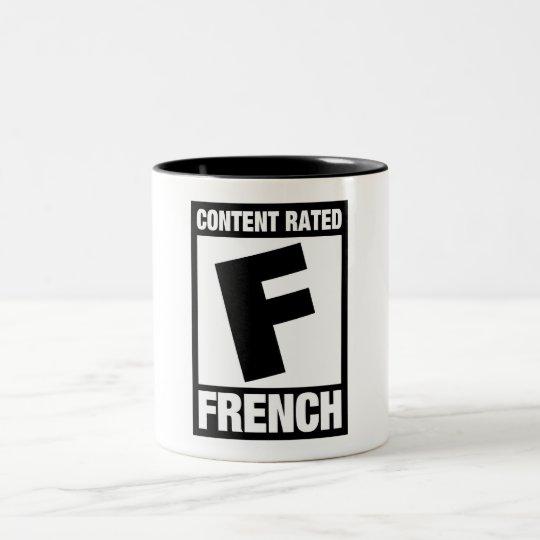 Rated F: French Two-Tone Coffee Mug
