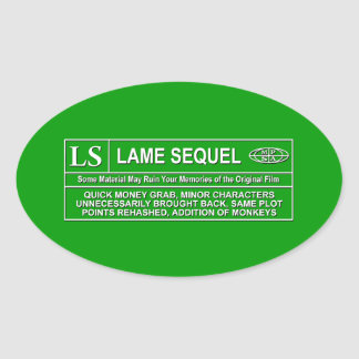 Rated LS Oval Sticker