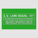Rated LS Rectangular Stickers