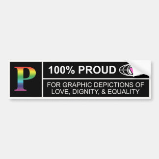 Rated P for Proud sticker